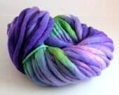 purple yarn merino thick and thin slub Squashed Grapes