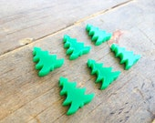 6 Acrylic Grass Green Christmas Trees 17 mm High Laser Cut Acrylic