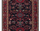 Mouse Pad - Persian Rug design - Burgundy, Dark blue
