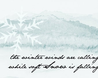 Winter Winds Digital Print
