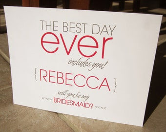 6 Personalized Will You Be My Bridesmaid Cards The Best Day Ever