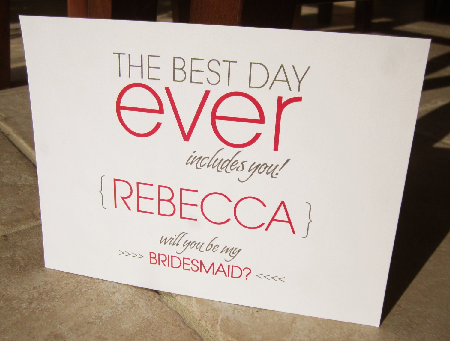 4 Personalized Will You Be My Bridesmaid Cards The Best Day