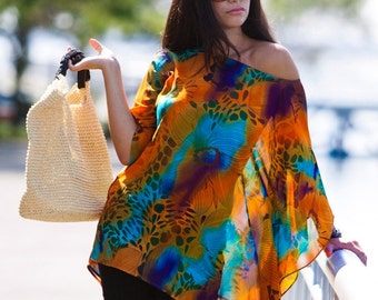 Beach cover up, beach kaftan, one size