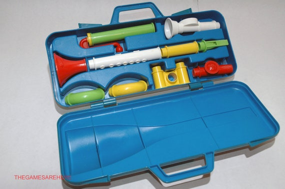 Fisher Price Crazy Combo Horn Set 1984