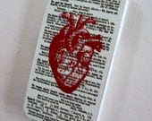 Sale on iPhone Case Vintage Heart Image Definitions Hard Case Only