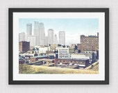 Minneapolis, Past & Present (8x10 PRINT)