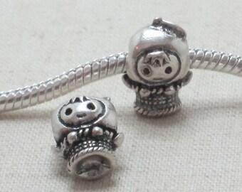 Little Girl European Style Charm Bead, Big Hole Bead