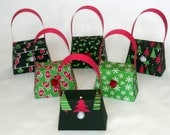 6 Small Christmas gift boxes/party favors - FULLY ASSEMBLED