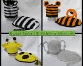 PATTERN Zoo Animal Hats & Capes - Crochet