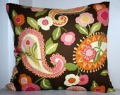 Outdoor Pillow Slipcovers in Paisley and Floral -Set of 2