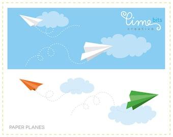 Paper Planes Clip Art