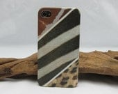 Safari - iPhone 4 case, iPhone 4s case, iPhone hard case decoupage