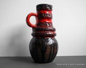 Scheurich lava vase with handle