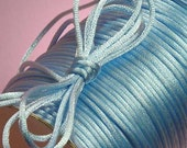 8 Yards Of 3mm Baby Blue Nylon Satin Rattail or Rat Tail Cord For Necklace Pendants And Bracelets
