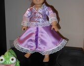 "Rapunzel Costume / Outfit for 18"" / American Girl sized doll"