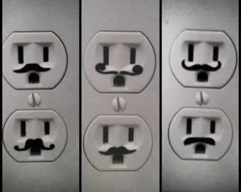 48 Mustaches for light switches, outlets and everywhere else you can imagine