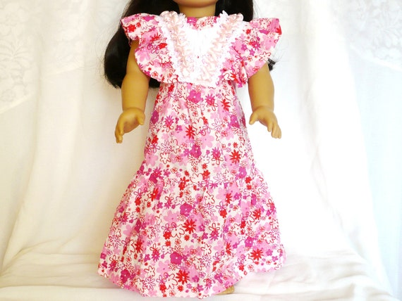 """American girl doll clothes/ 18"""" doll clothes/ Pink dress"""