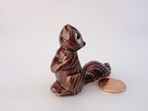 Attentive Squirrel Figurine looking for nuts and a New Home