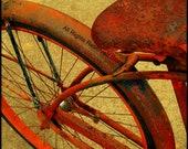 12x12 Inch Fine Art Hipster Modern  Home Decor Photo Called Vintage Bike