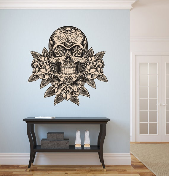 Mexican Decorated Skulls Mexican Sugar Skull Wall Decal