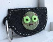 Upset Zombie Tea Cup Keychain (Black)