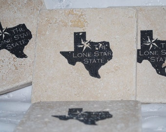 Texas state stone etsy for Travertine eye drops