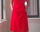 1960s Red Dress with Pockets