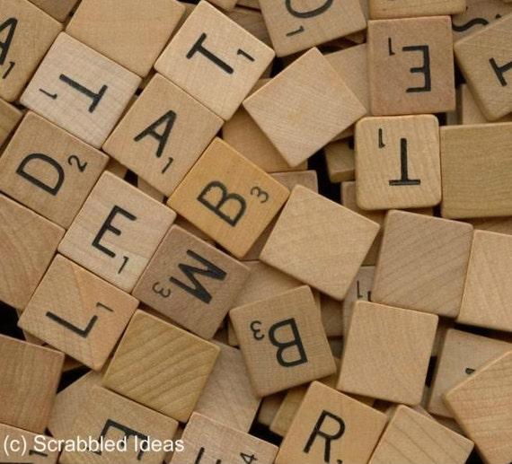 VINTAGE SCRABBLE TILES 50 Assorted Wooden By ScrabbledIdeas