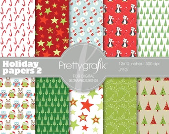 80% 0FF SALE Christmas digital paper, commercial use, scrapbook papers, background - PS560