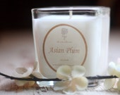 Candle. Soy Wax.  Hand Poured.  Asian Plum.  Fragrant  7 oz  Zen Collection - HiddenAcresSoapCo