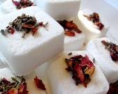 Happy Mama Fizzy Bath Petit Fours - All Natural - Herb Infused - Moroccan Vanilla, Bulgarian Rose Otto, Tonka Bean - (5)