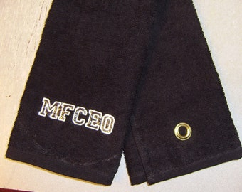 wickedly funny golf towel..,,make your statement MFCEO
