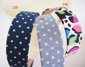 NO.229 245 246 -  blue polka dot headband and colorful leopard headband