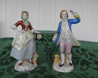 Occupied Japan Couple Figurines