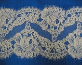 Alencon Lace Re-embroidered Trim - Light Ivory for Vaya - Custom Order