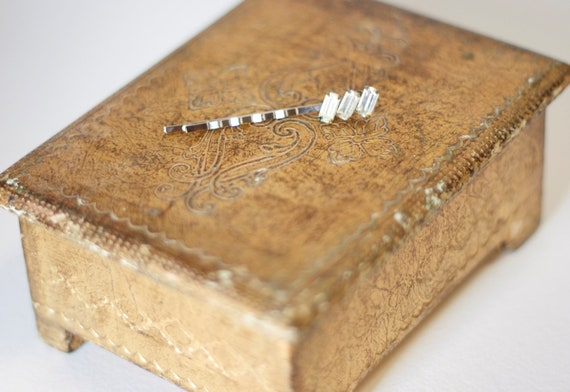 One Vintage Crystal Decorative Bobby Pin for the bride, bridesmaid or flower girl