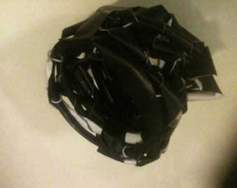 """Vinyl / Electrical Tape and wire """"functional"""" basket"""