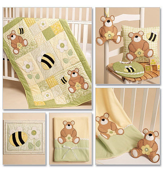 Baby Crib Bedding Patterns Mccalls Sewing Patterns For Baby