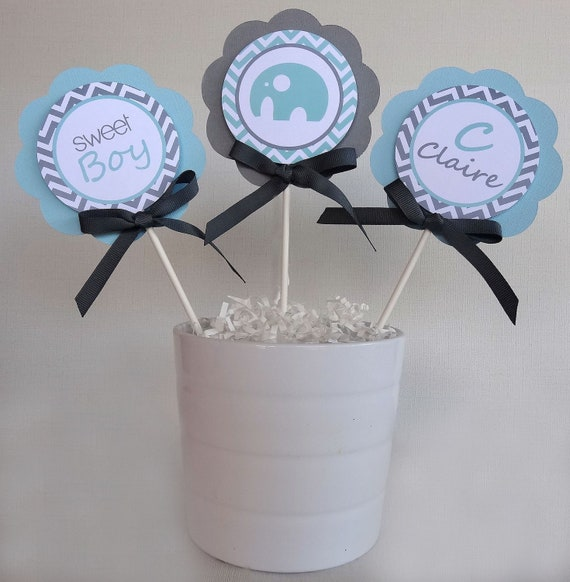 items similar to elephant centerpiece sticks baby shower decorations