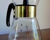 Atomic Starburst 1960s Corning Coffee Pot