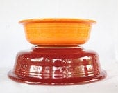 Fiesta Ware Bowl Set In Red and Orange