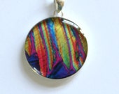 Epinephrine (Adrenaline) Under the Microscope round pendant necklace
