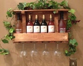 Wine racks made from recycled pallets