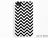 iPhone 5 4 Zig Zag Case - Samsung Galaxy s3 s4, ipod touch - striped chevron - Black White Monochrome -2 - CaseOfIdentity