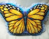 Decorative quilted Butterfly Pillow