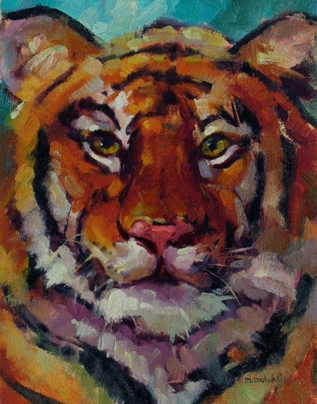Items similar to Tiger Oil Painting, Original ...