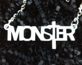 Monster Pendent Necklace - Lady Gaga Little Monster