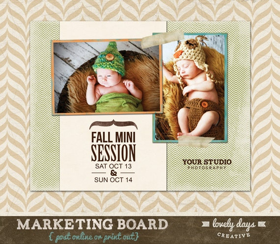 Fall Photography Marketing Blog Board / Newsletter Template For Photographers INSTANT DOWNLOAD
