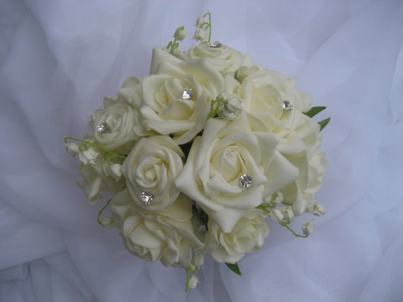 Wedding Bouquet Roses Lily Of The Valley And By DESIGNSBYDME