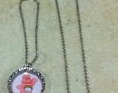 Bottle Cap Necklace & Bracelet